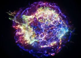 The supernova remains Cassiopeia A generates too little energy for it to come into question as an accelerator for cosmic radiation.