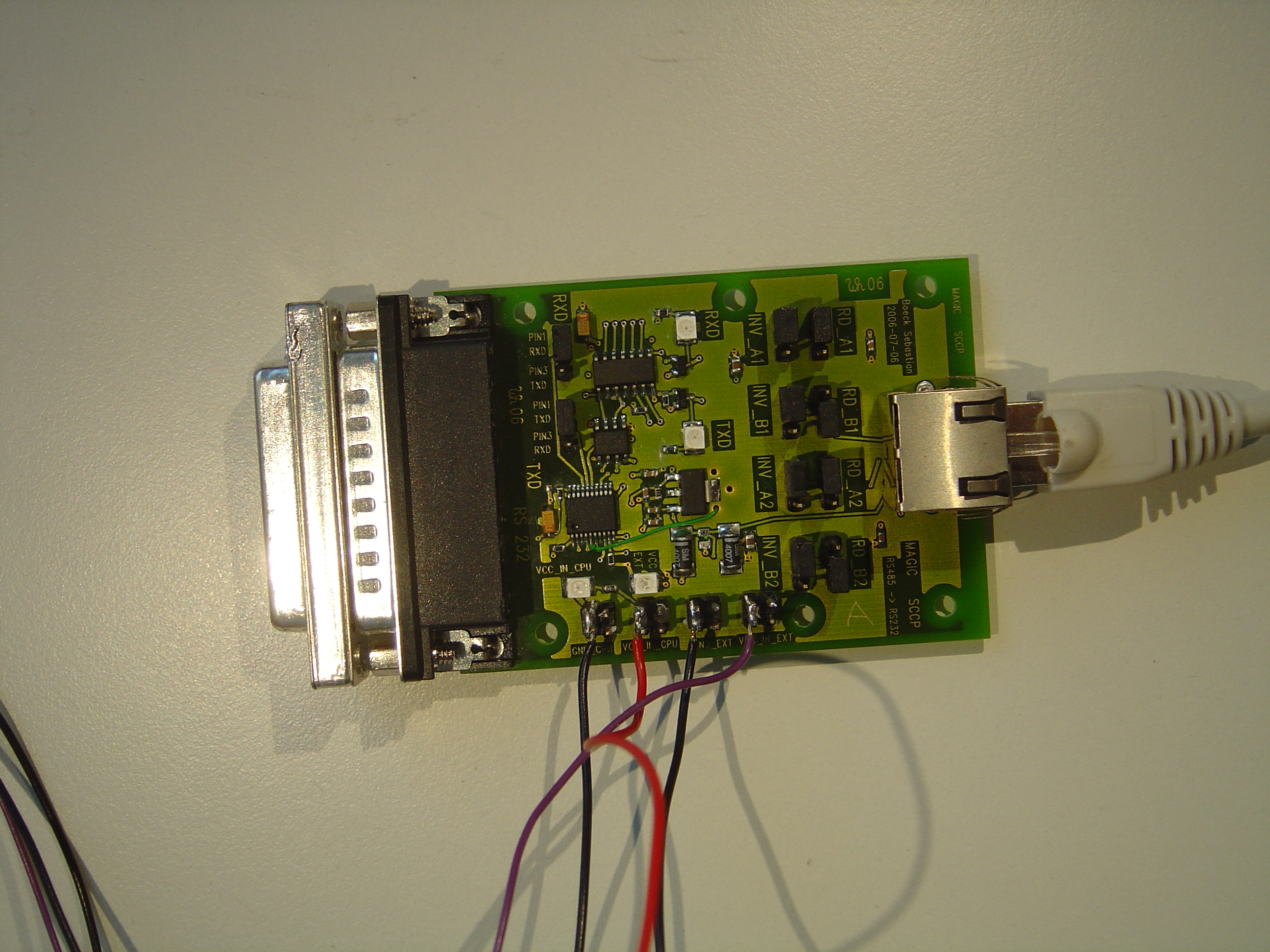 The Slow Control For Magic Ii Whaberer Circuit Boards Like Appears Rs232 To Rs485 Board Top