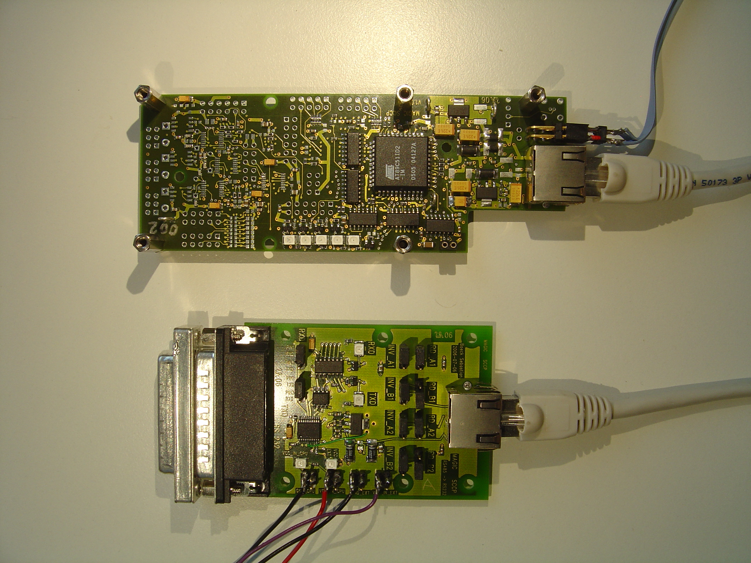 The Slow Control For Magic Ii Whaberer Circuit Boards Like Appears Rs232 To Rs485 Board And Sccp Top