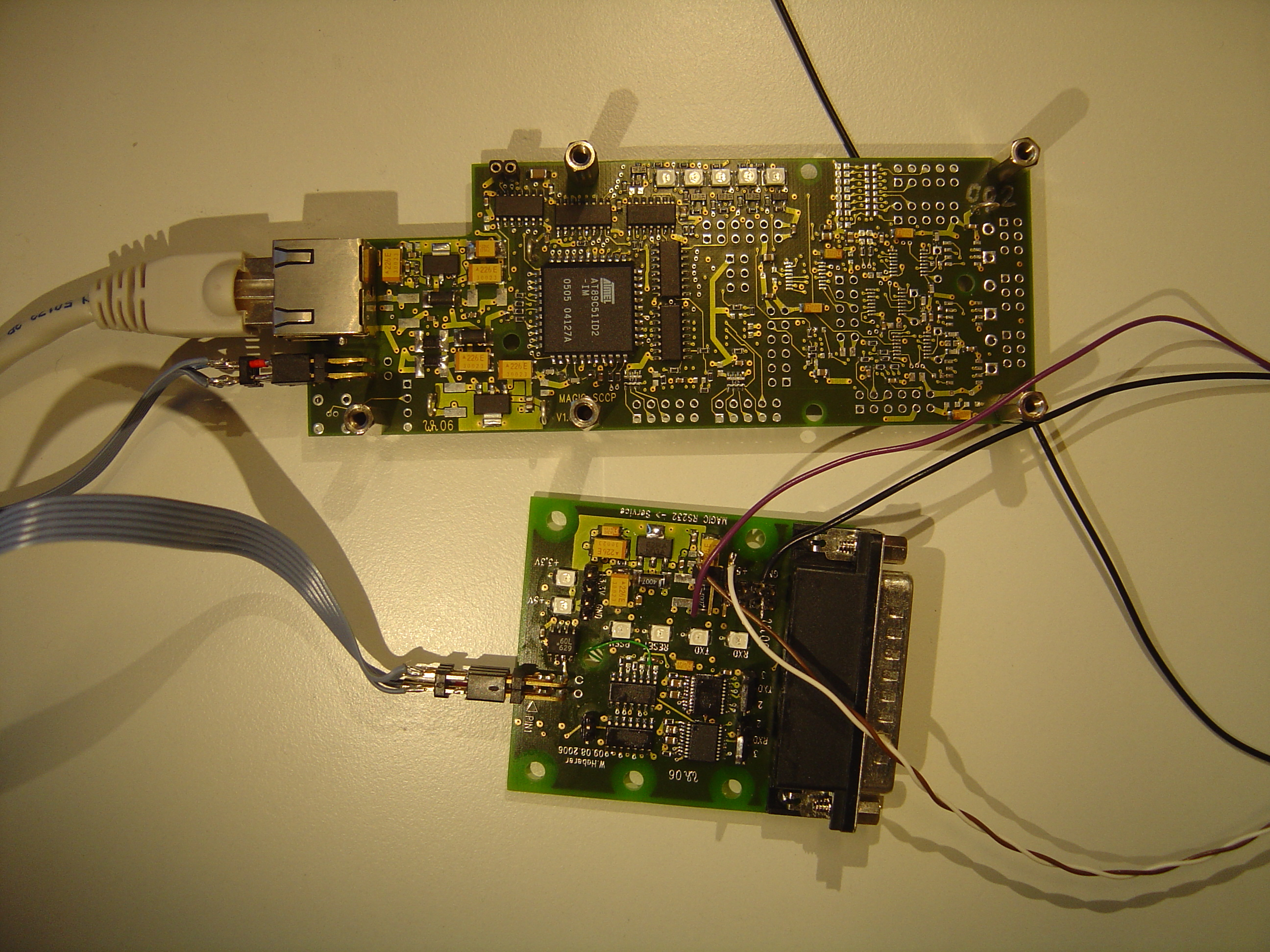The Slow Control For Magic Ii Whaberer Circuit Boards Like Appears Sccp And Service Board Top